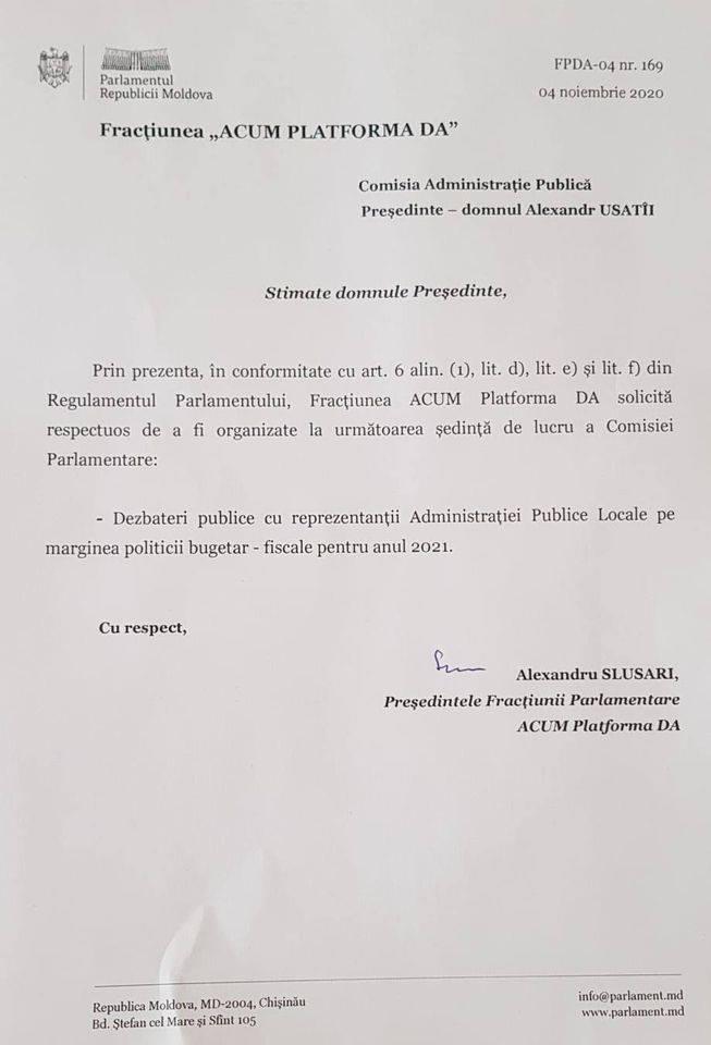 Slusari solicită organizarea audierilor publice pe marginea proiectului politicii bugetar-fiscale pentru 2021 - FOTO