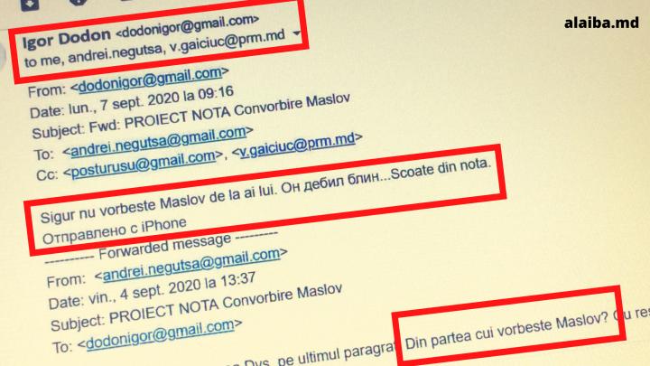 Un deputat PAS a publicat imagini cu corespondența dintre Igor Dodon și Andrei Neguța - FOTO