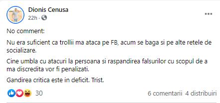 Politologul Dionis Cenușă ATACAT de trollii Maiei Sandu: Sunteți un KGB-ist care și-a arătat fața