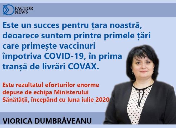 Al doilea lot de vaccin ajunge în această seară în Republica Moldova. Este prima donație oferită prin programul COVAX